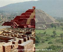 Teotihuacan now & then